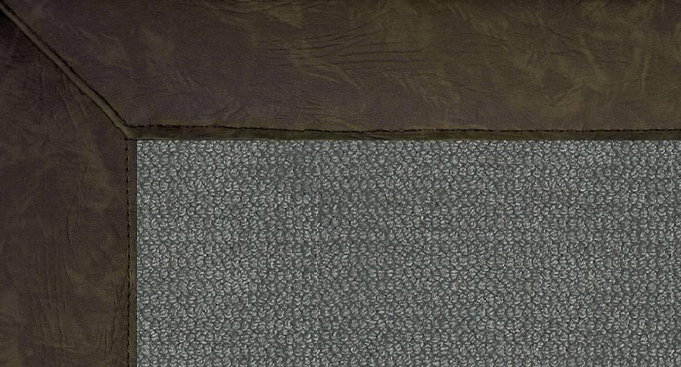 Athena - Charcoal-Dark Green Leather - Hellenic Rug