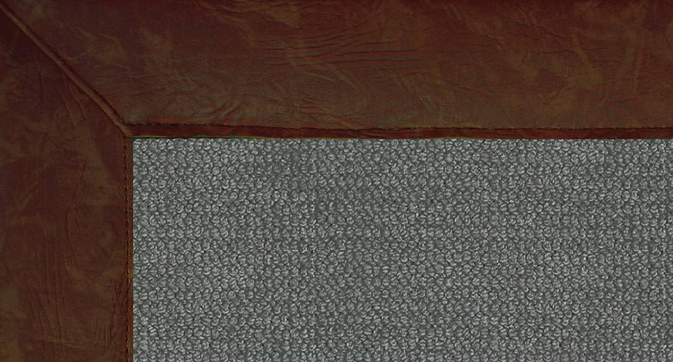 Athena - Charcoal-Brown Leather - Hellenic Rug