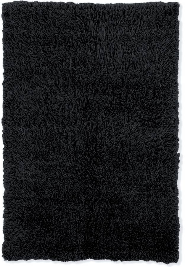 New Flokati - Black - Black - Hellenic Rug
