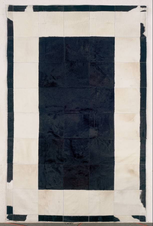 Cow Hide Patchwork - Black-White - Hellenic Rug