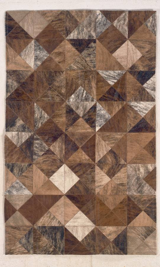Cow Hide Patchwork - Diamond - Brown - Hellenic Rug
