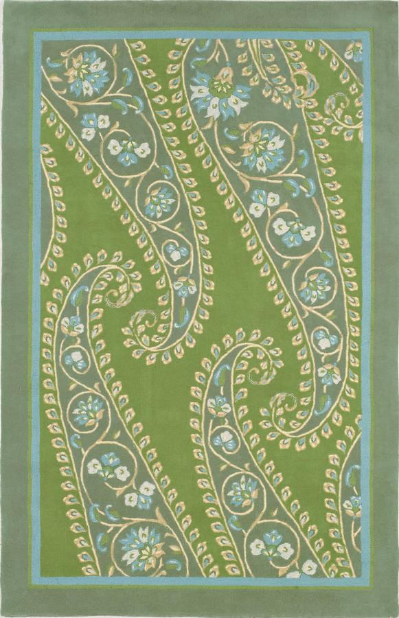 Inspirations - Paisley - Green - Hellenic Rug