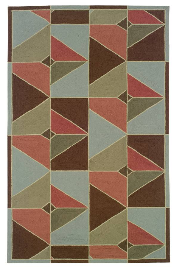 Indoor & Outdoor - Prism - Chocolate-Apricot - Hellenic Rug