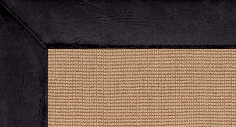 Jute - Black Leather - Black Leather - Hellenic Rug
