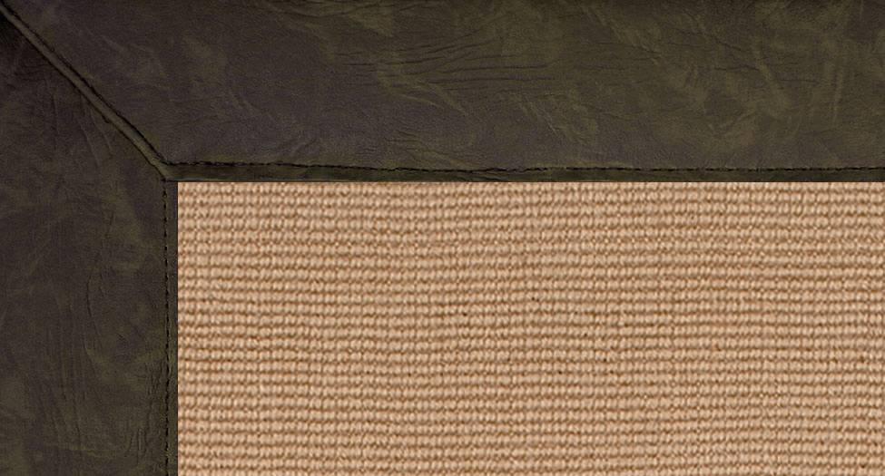 Jute - Dark Green Leather - Dark Green Leather - Hellenic Rug