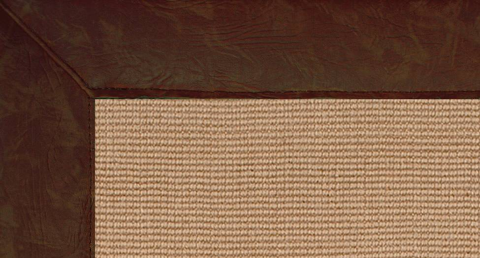 Jute - Brown Leather - Brown Leather - Hellenic Rug