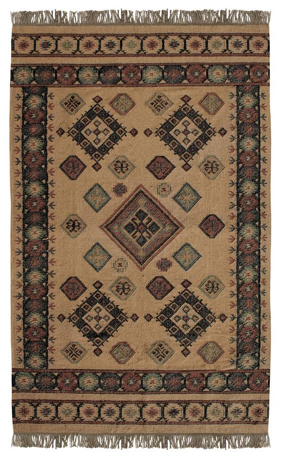 Antique Kilim - Himalayan - Gold-Charcoal - Hellenic Rug