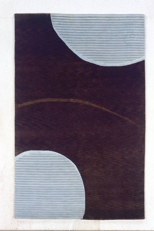 Maz 2000 - Amsterdam - Chocolate-Pale Blue - Hellenic Rug