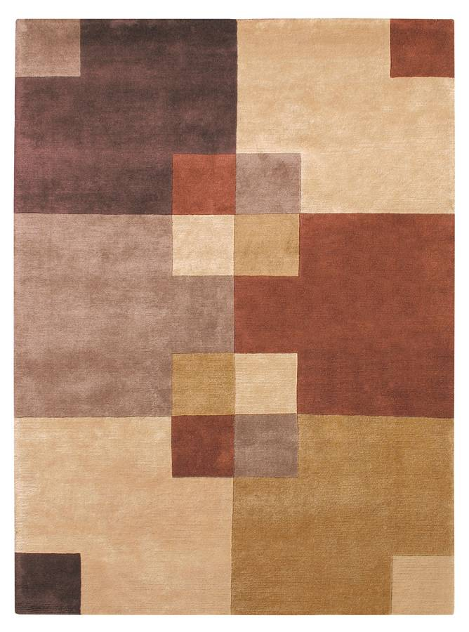 Napoli - Structure - Camel-Rust - Hellenic Rug