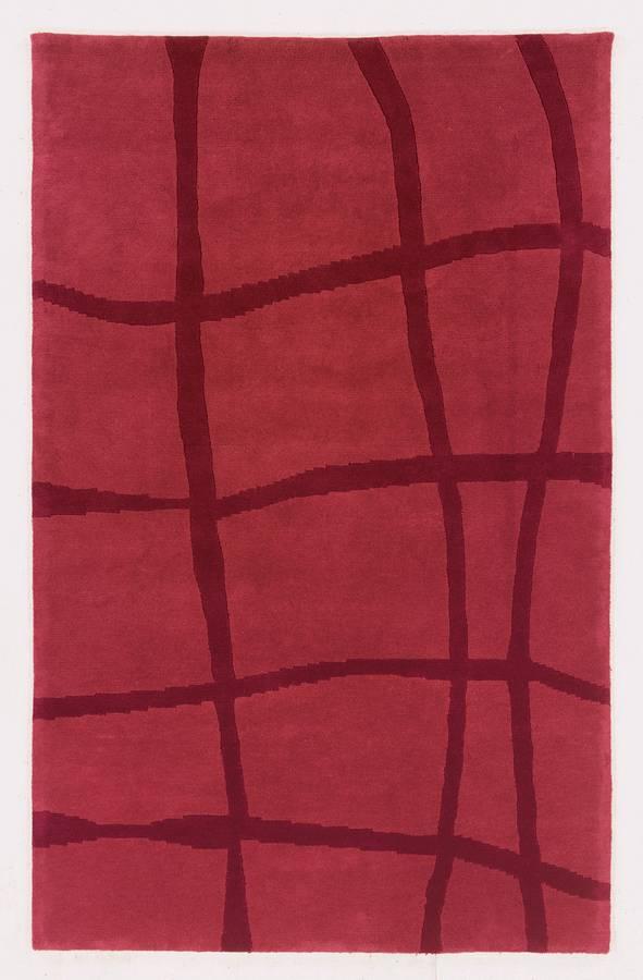 Napoli - Wavy Stripe - Red - Hellenic Rug