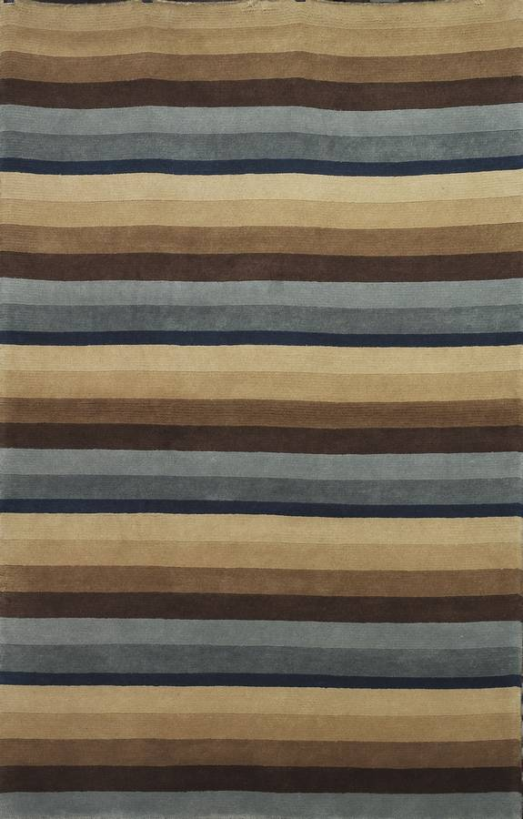 Napoli - Stripe - Blue-Brown - Hellenic Rug