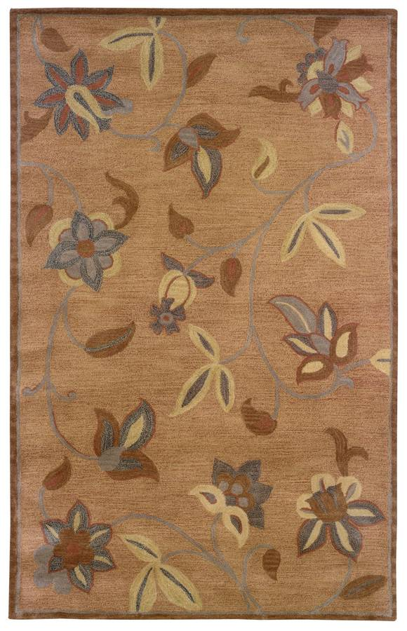 Palermo - Floral - Gold-Terracotta - Hellenic Rug