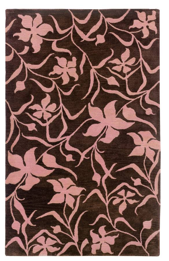 Palermo - Fielded - Chocolate-Pink - Hellenic Rug