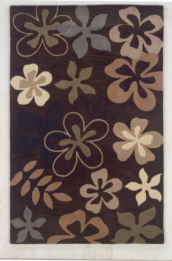 Palermo - Floral Medley - Chocolate - Hellenic Rug