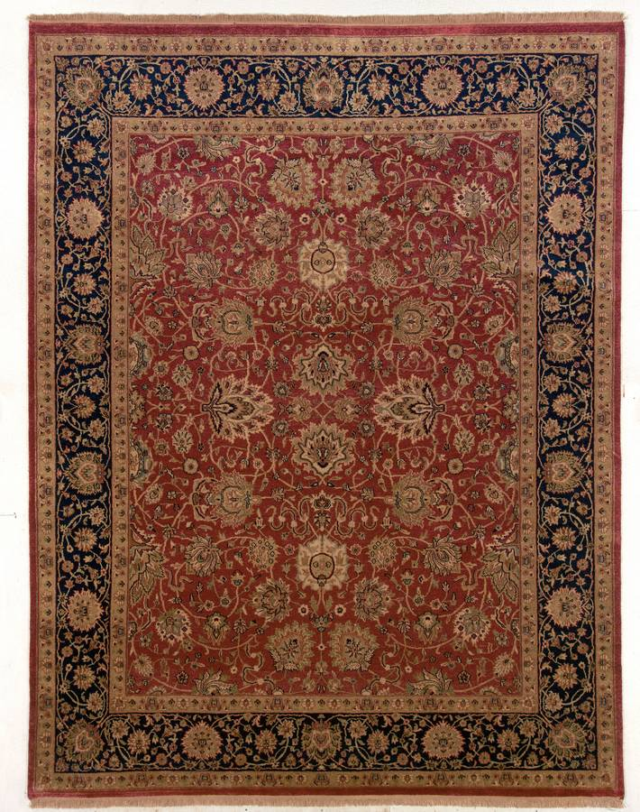 Private Reserve - Twisted Kashan - Red-Navy - Hellenic Rug