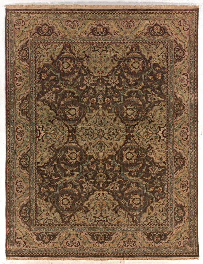 Private Reserve - Hard Twist Medallion - Chocolate - Hellenic Rug