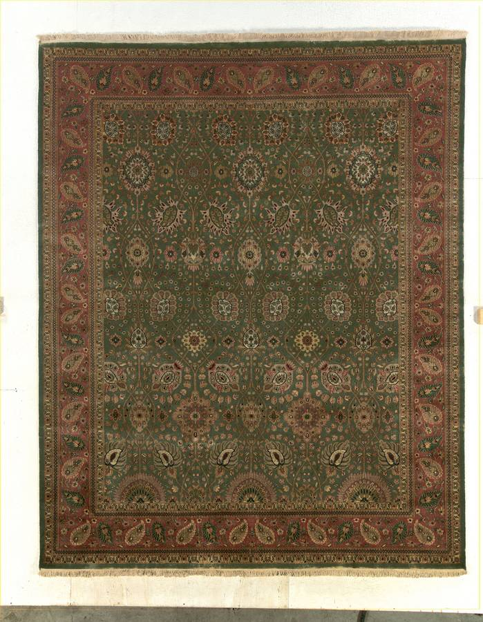 Private Reserve - Tabriz - Green-Terracotta - Hellenic Rug