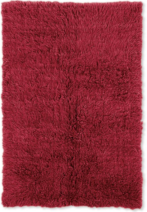 New Flokati - Red - Red - Hellenic Rug