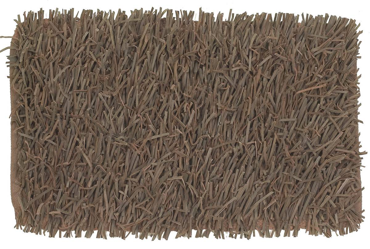 Shag Leather - Brown - Brown - Hellenic Rug
