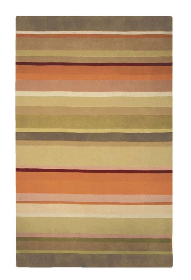 Torino - Stripes - Sage-Olive - Hellenic Rug