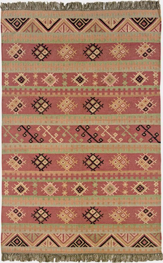 Anatolia Wool Kilims - Issis - Paprika-Sage - Hellenic Rug