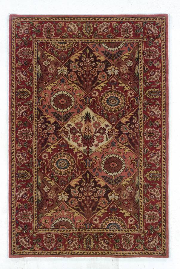 Wonders of the World - Panel - Coral-Burgundy - Hellenic Rug