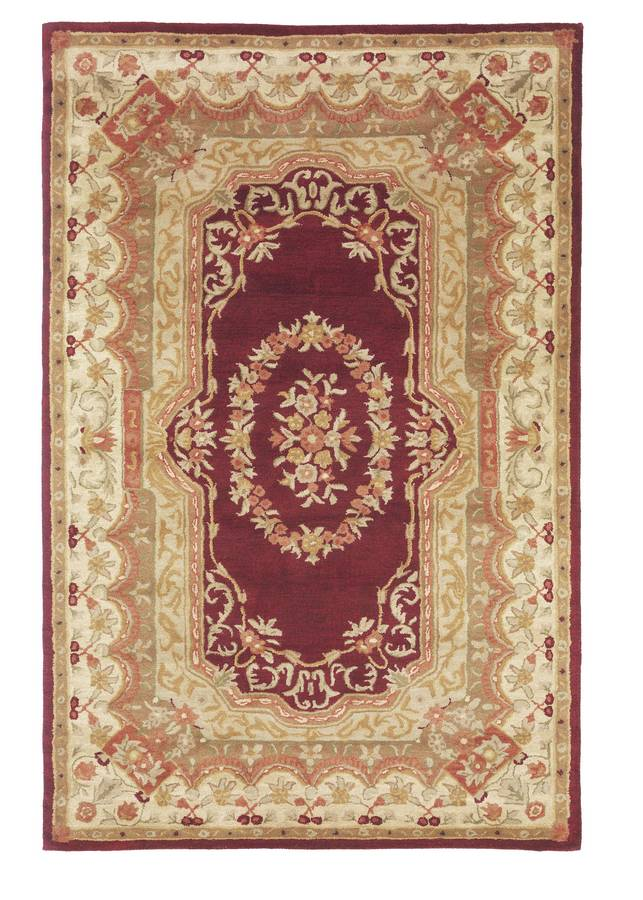Wonders of the World - Abusson - Burgundy-Cream - Hellenic Rug