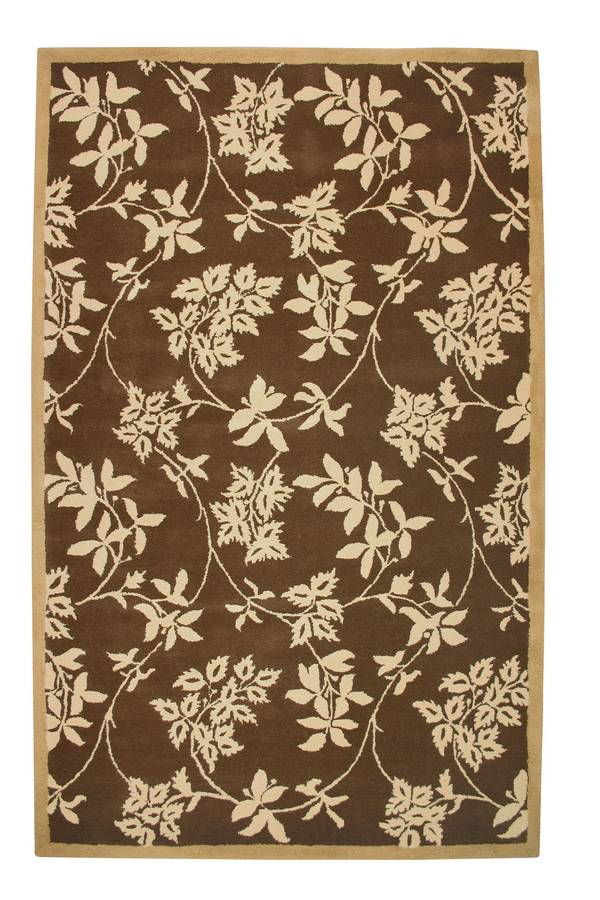 Wonders of the World - Leaves - Chocolate-Cream - Hellenic Rug