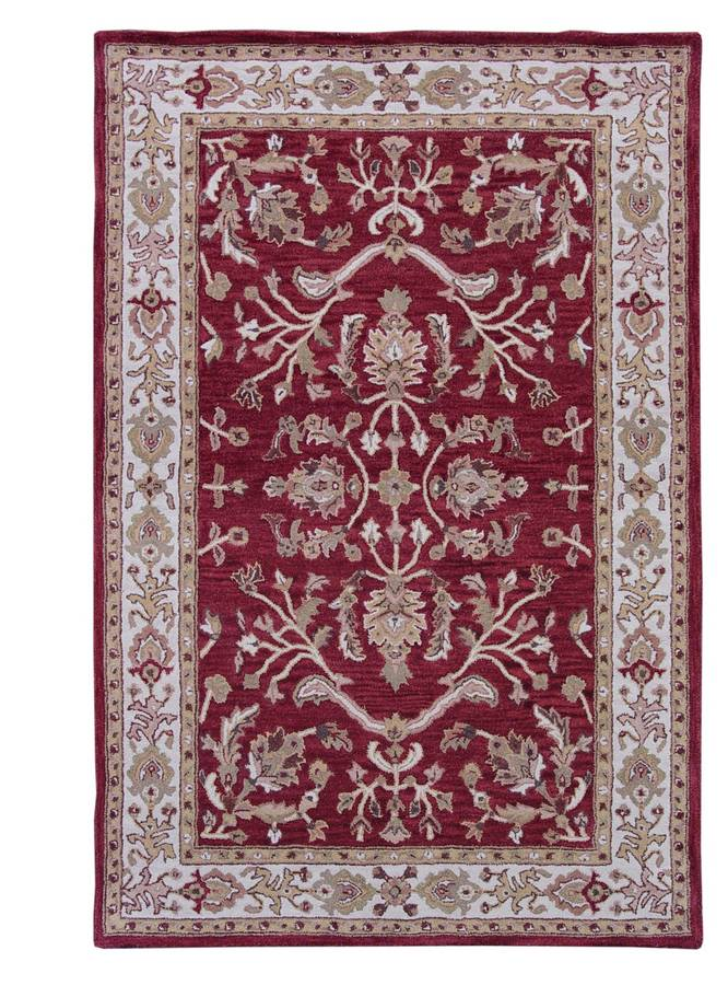 Wonders of the World - American Sarouk - Red-Ivory - Hellenic Rug