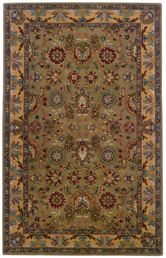 Wonders of the World - Kasmir - Sage-Yellow-Gold - Hellenic Rug