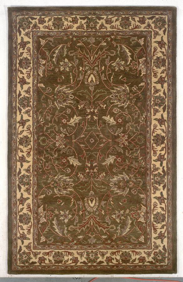 Wonders of the World - Antique Japur - Brown Toned Olive-Gold - Hellenic Rug