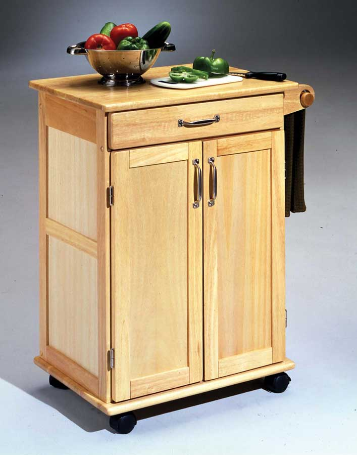 Cheap Home Styles Wood Kitchen Cart – Natural