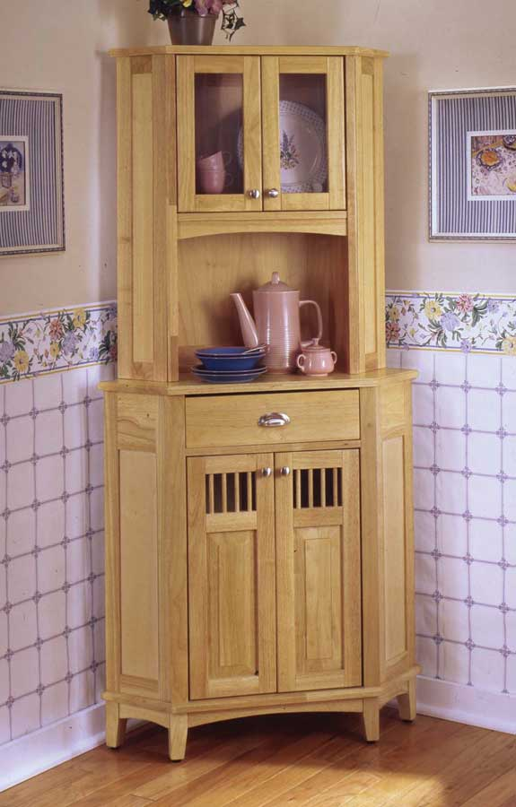 Home Styles Nantucket Corner Hutch And Buffet   Natural