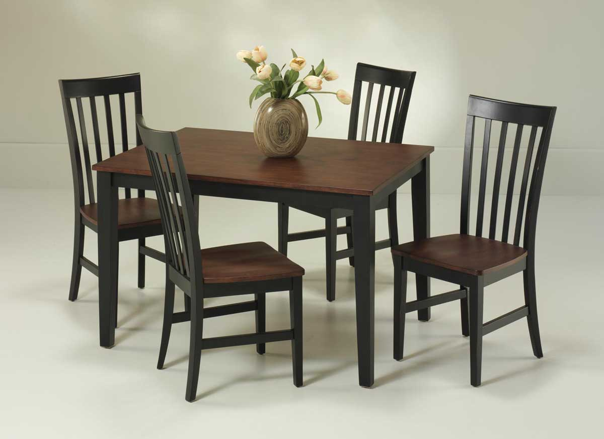 Home Styles Rectangular Dining Collection - Black and Cherry