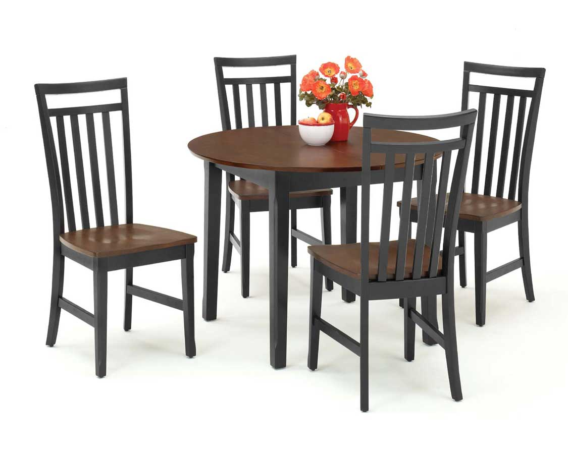 Home Styles Round Dining Collection - Black and Cherry