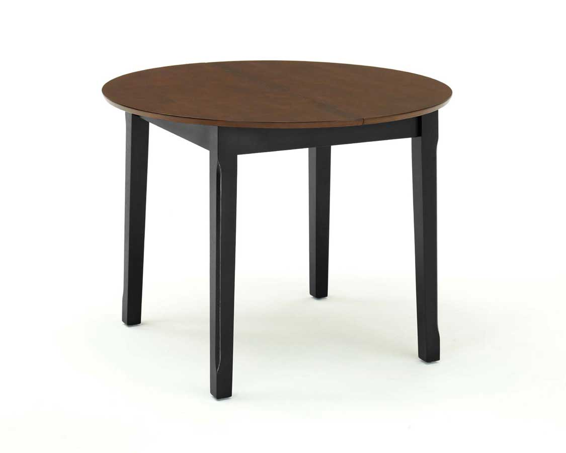 home styles round dining table with leaf black and