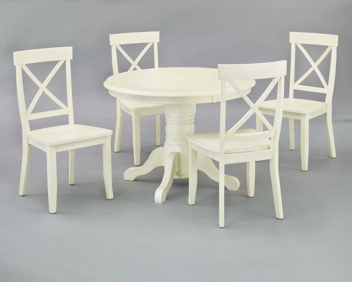 Home Styles Round Pedestal Dining Collection - White