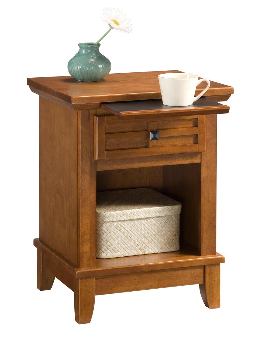Home Styles Arts and Crafts Night Stand - Cottage Oak