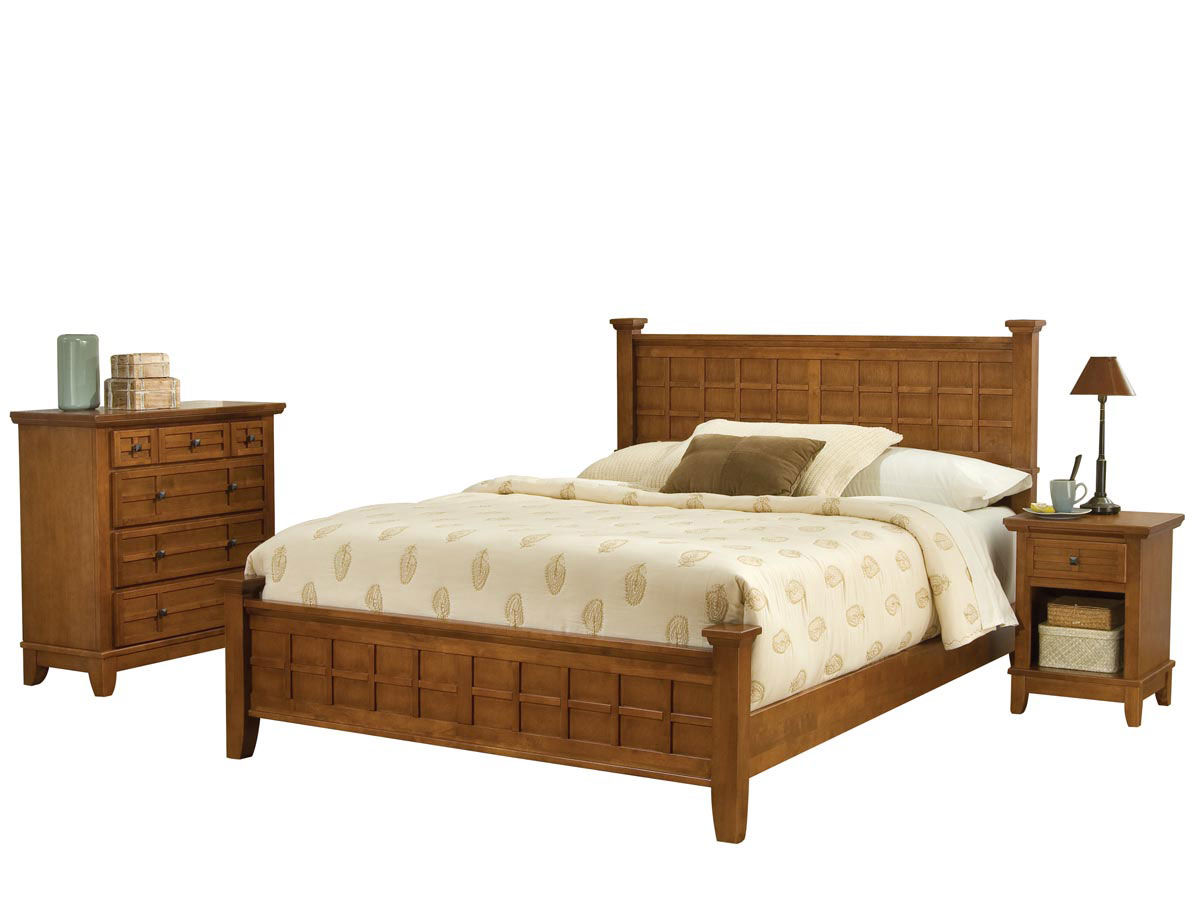 Home Styles Arts And Crafts Bedroom Set Cottage Oak 5180