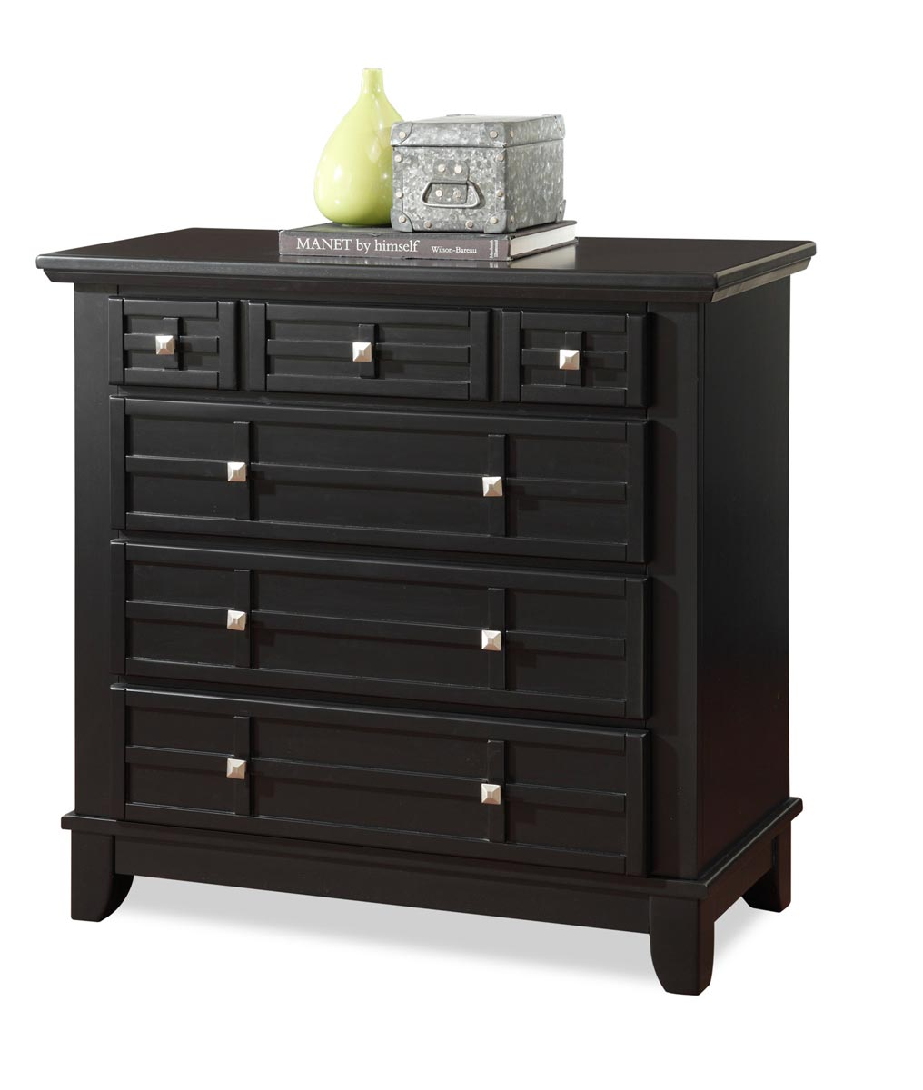 Home Styles Arts and Crafts Chest - Black