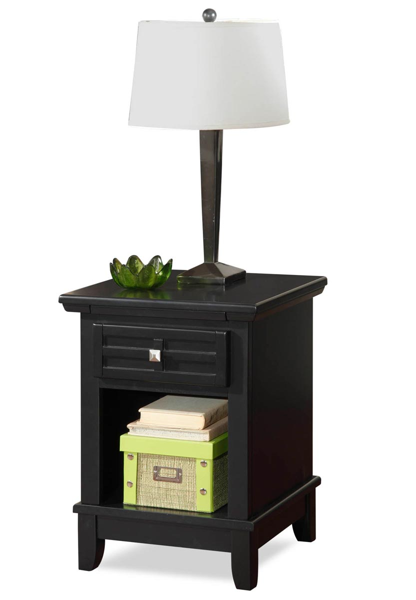 Home Styles Arts and Crafts Night Stand - Black