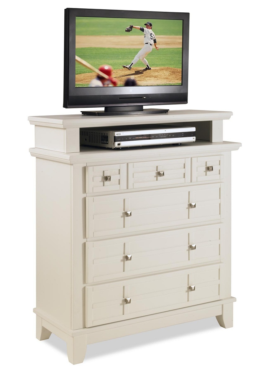 Home Styles Arts and Crafts TV Media Chest - White
