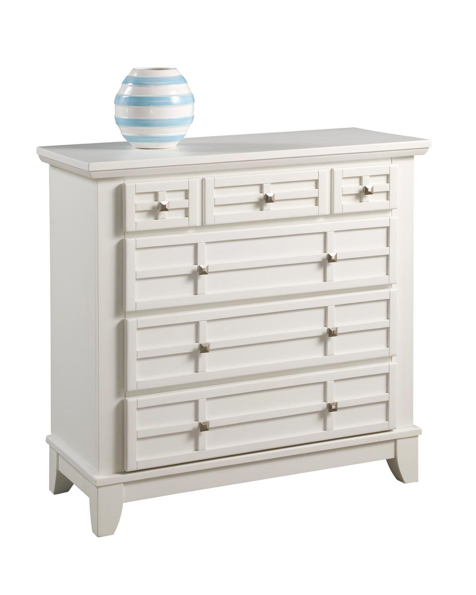 Home Styles Arts and Crafts Chest - White
