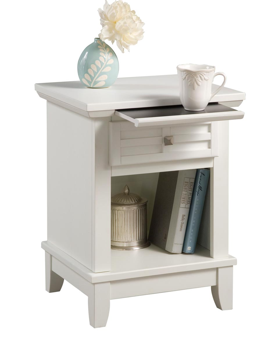 Home Styles Arts and Crafts Night Stand - White