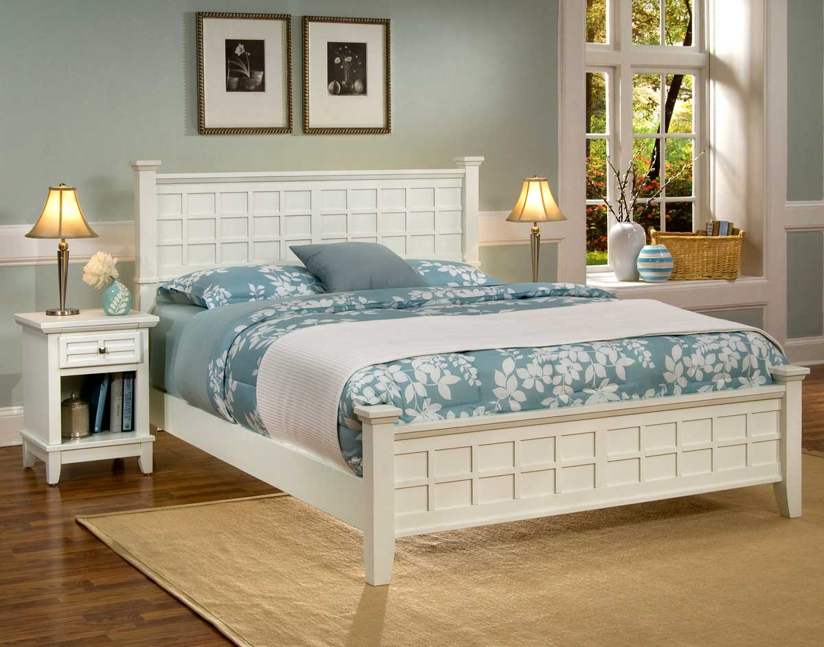 Home styles arts and crafts bedroom set white 5182 42 for Bedroom furniture for less