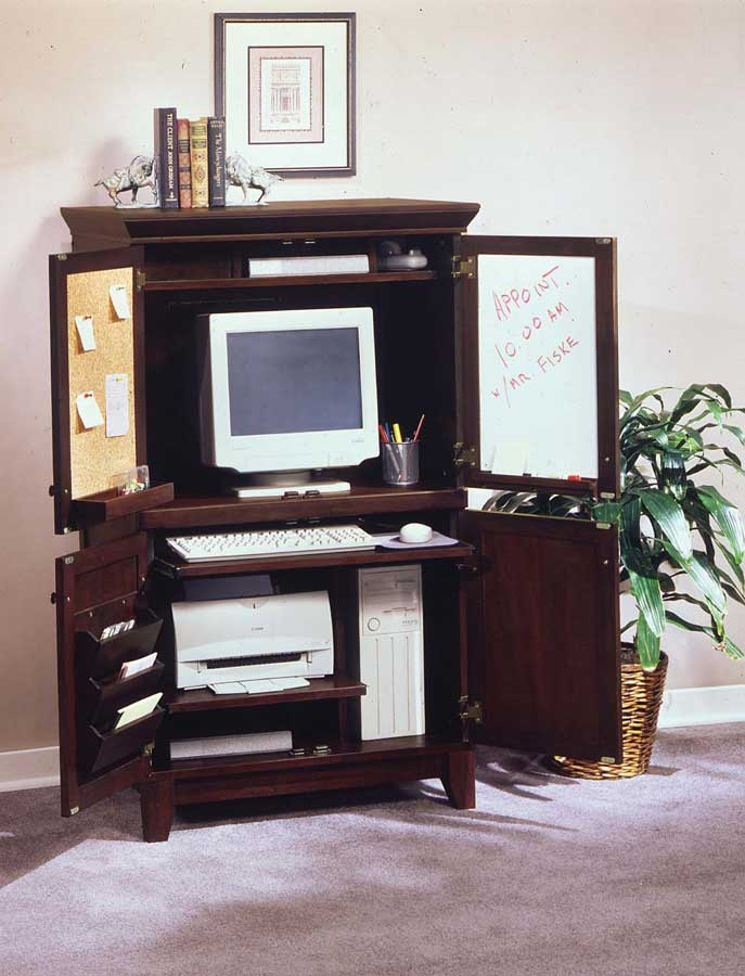Home Styles Computer Armoire - Coffee