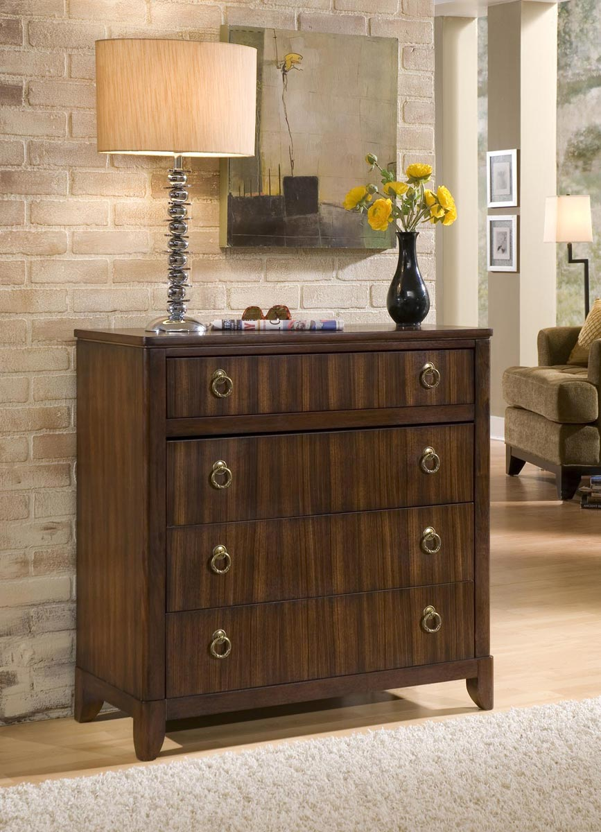 Home Styles Paris Four Drawer Chest - Mahogany