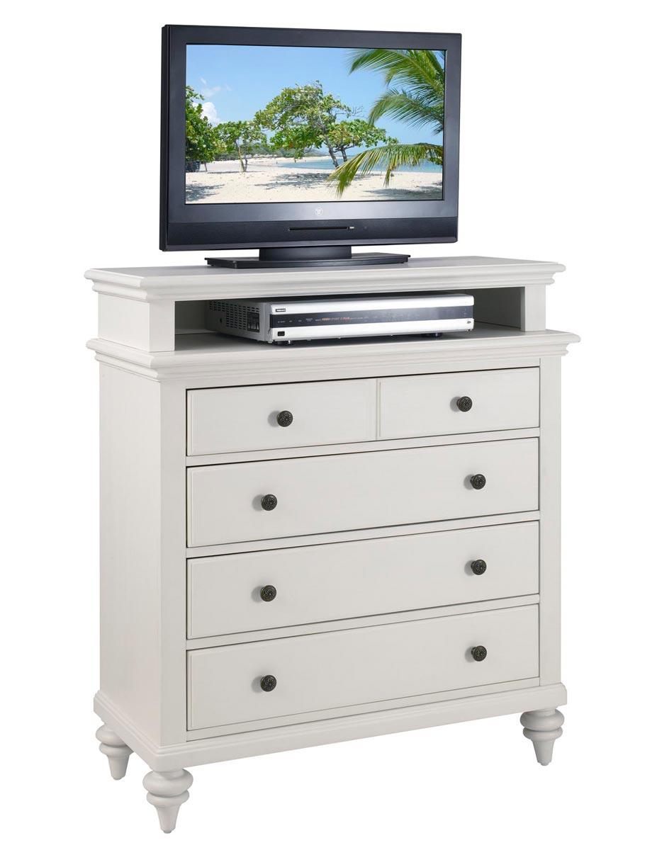 Home Styles Bermuda TV Media Chest - Brushed White
