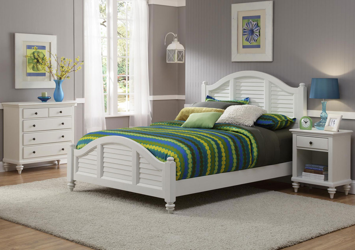 Home Styles Bermuda Bedroom Set - Brushed White