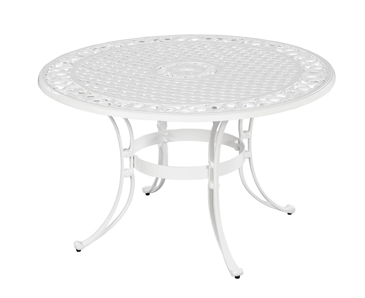 Home styles biscayne 48 inch round dining table white